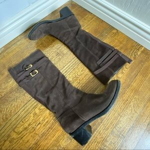 Gucci Suede Knee High Boots